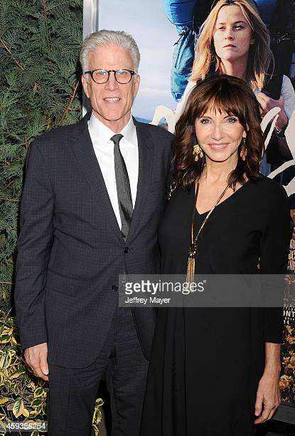 Actors Ted Danson and wife Mary Steenburgen arrive at the Los Angeles premiere of 'Wild' at AMPAS Samuel Goldwyn Theater on November 19 2014 in...