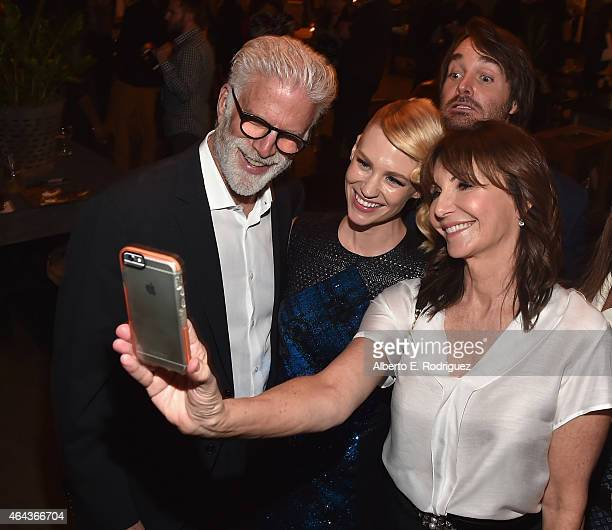 Actors Ted Danson January Jones Will Forte and Mary Steenburgen attend the after party for the premiere of Fox's 'The Last Man On Earth' at on...