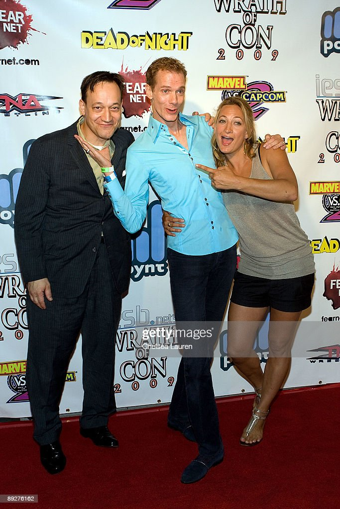 Actors Ted Raimi, Doug Jones and Zoe Bell attend the 'Wrath of Con' Comic-Con party at Hard Rock Hotel San Diego on July 24, 2009 in San Diego, California.