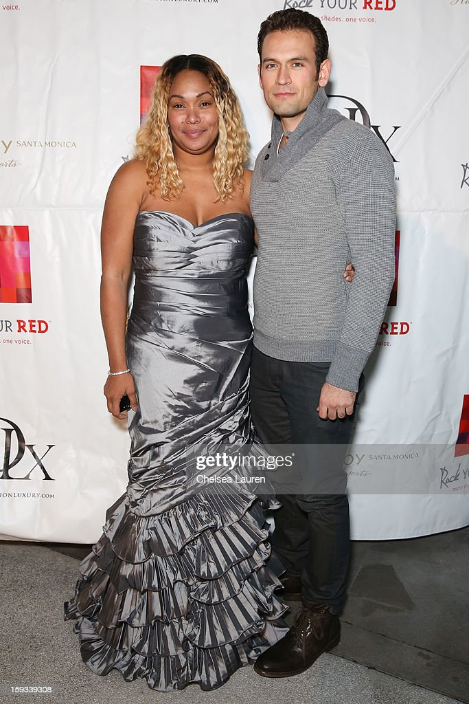 Actors Tee Ashira (L) and Philip Martin attend the AVG outreach event at the Viceroy Hotel on January 11, 2013 in Santa Monica, California.