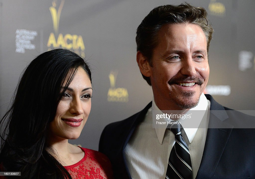 Actors Tehmina Sunny and Charles Mesure arrives at the Australian Academy Of Cinema And Television Arts' 2nd AACTA International Awards at Soho House on January 26, 2013 in West Hollywood, California.