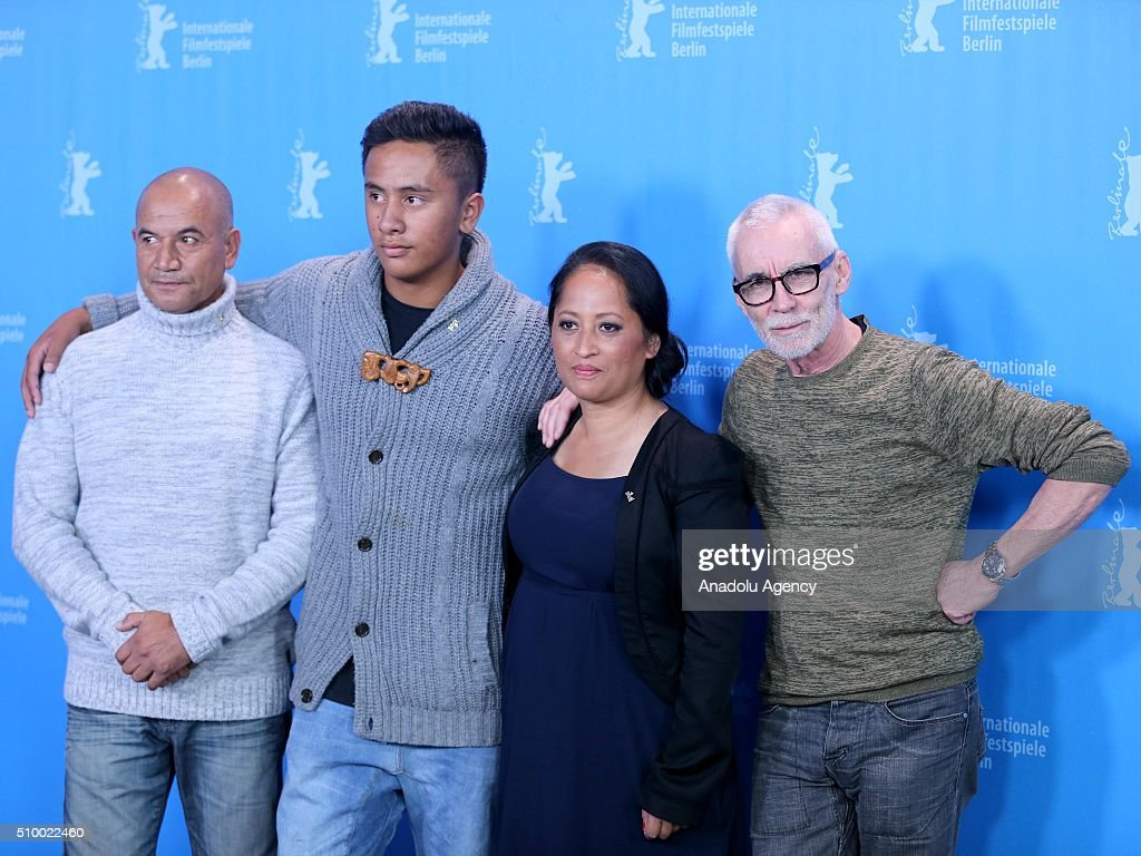 Actors Temuera Morrison, Akuhata Keefe, Nancy Brunning and director Lee Tamahori attend the 'The Patriarch' (Mahana) photo call during the 66th Berlinale International Film Festival Berlin at Grand Hyatt Hotel on February 13, 2016 in Berlin, Germany.