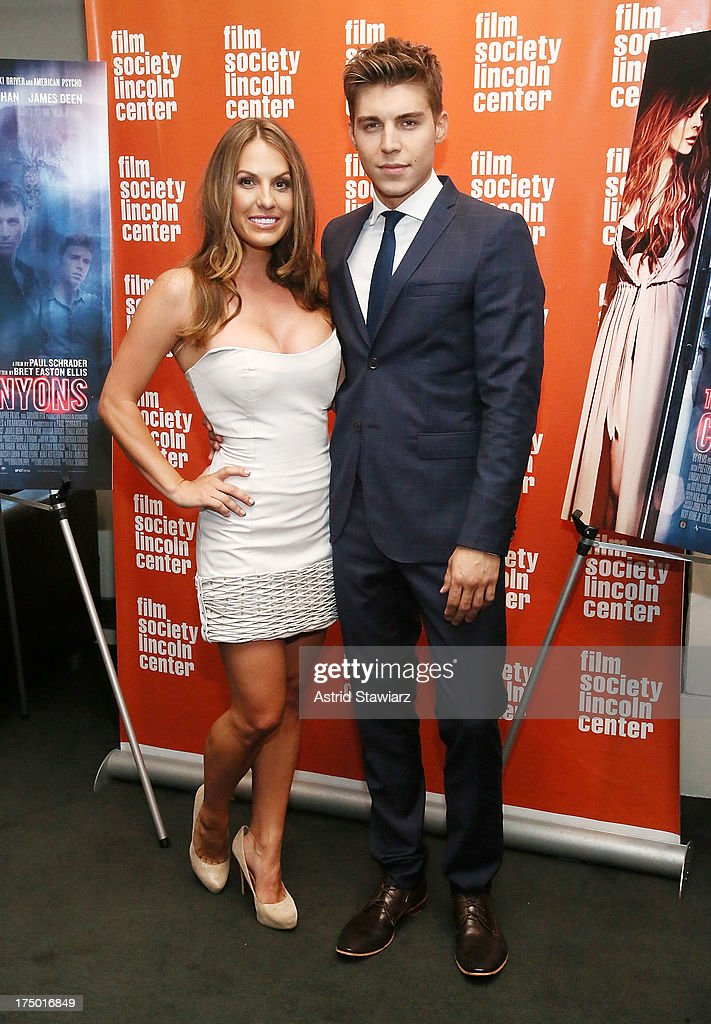 Actors Tenille Houston and <a gi-track='captionPersonalityLinkClicked' href=/galleries/search?phrase=Nolan+Gerard+Funk&family=editorial&specificpeople=5626391 ng-click='$event.stopPropagation()'>Nolan Gerard Funk</a> attend a screening of 'The Canyon' presented by Film Society of Lincoln Center at The Film Society of Lincoln Center, Walter Reade Theatre on July 29, 2013 in New York City.