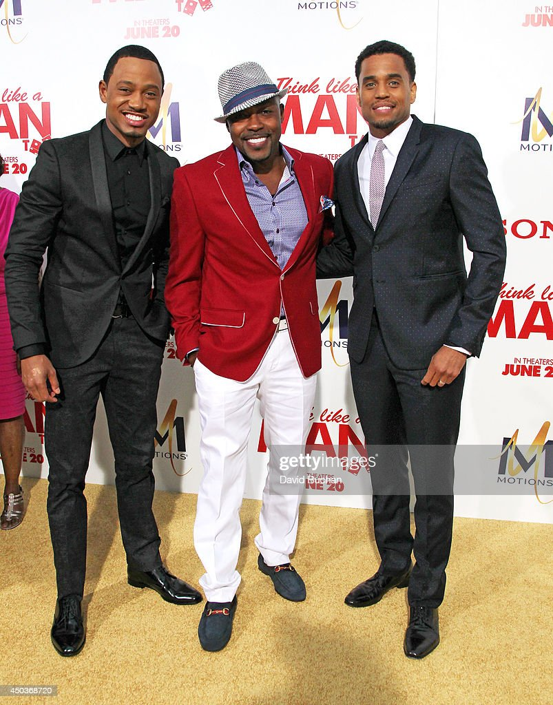Actors ,Terence Jenkins, William Packer and <a gi-track='captionPersonalityLinkClicked' href=/galleries/search?phrase=Michael+Ealy&family=editorial&specificpeople=227370 ng-click='$event.stopPropagation()'>Michael Ealy</a> attends the Premiere Of Screen Gems' 'Think like a man too' at TCL Chinese Theatre on June 9, 2014 in Hollywood, California.