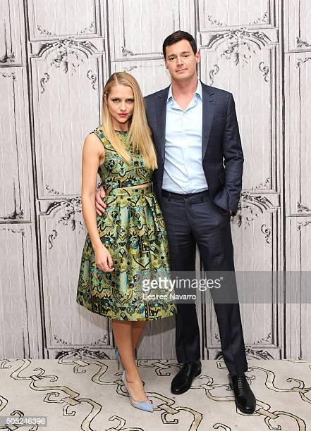 Actors Teresa Palmer and Benjamin Walker attend AOL Build Speaker Series Teresa Palmer Benjamin Walker And Nicholas Sparks 'The Choice' at AOL...