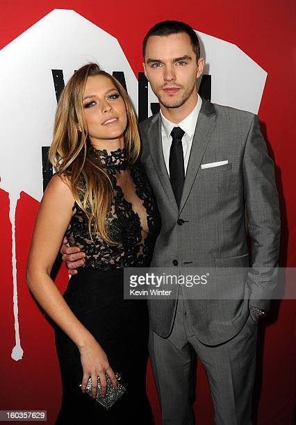 Actors Teresa Palmer and Nicholas Hoult arrive for the Los Angeles premiere of Summit Entertainment's 'Warm Bodies' at ArcLight Cinemas Cinerama Dome...
