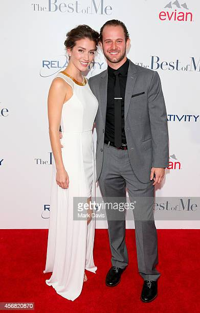 Actors Teri Wyble and Hunter Burke attend the premiere of Relativity Studios' 'The Best Of Me' at Regal Cinemas LA Live on October 7 2014 in Los...