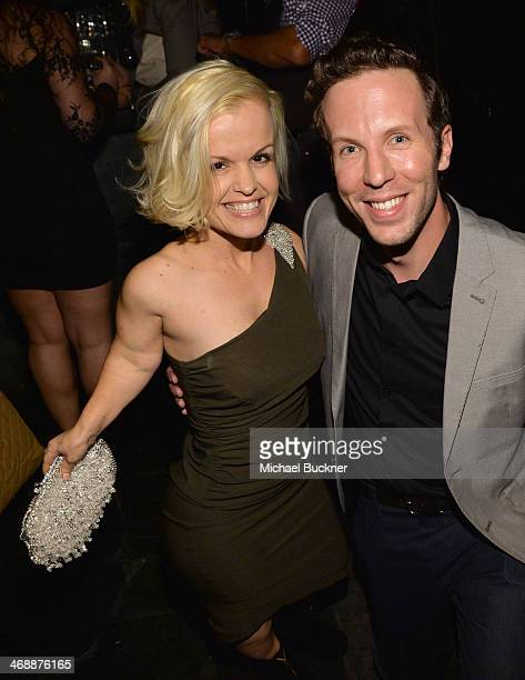 Actors Terra Jole and Ben Begley attend the 'The Hungover Games' cast party at Lure on February 11 2014 in Hollywood California