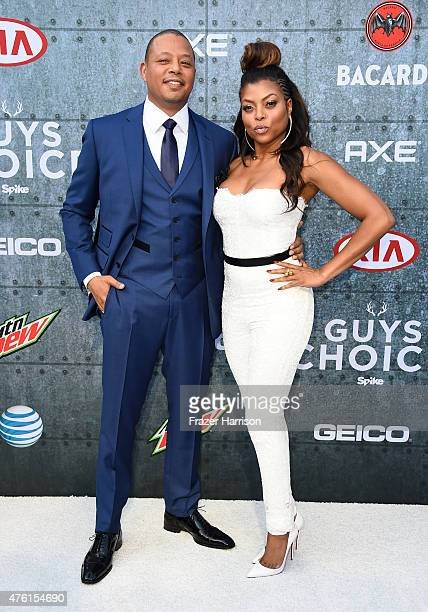 Actors Terrence Howard and Taraji P Henson attend Spike TV's Guys Choice 2015 at Sony Pictures Studios on June 6 2015 in Culver City California