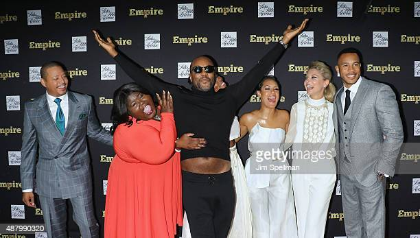 Actors Terrence Howard Gabourey Sidibe director/producer Lee Daniels actress/rapper Ta'Rhonda Jones actors Kaitlin Doubleday and Trai Byers attend...