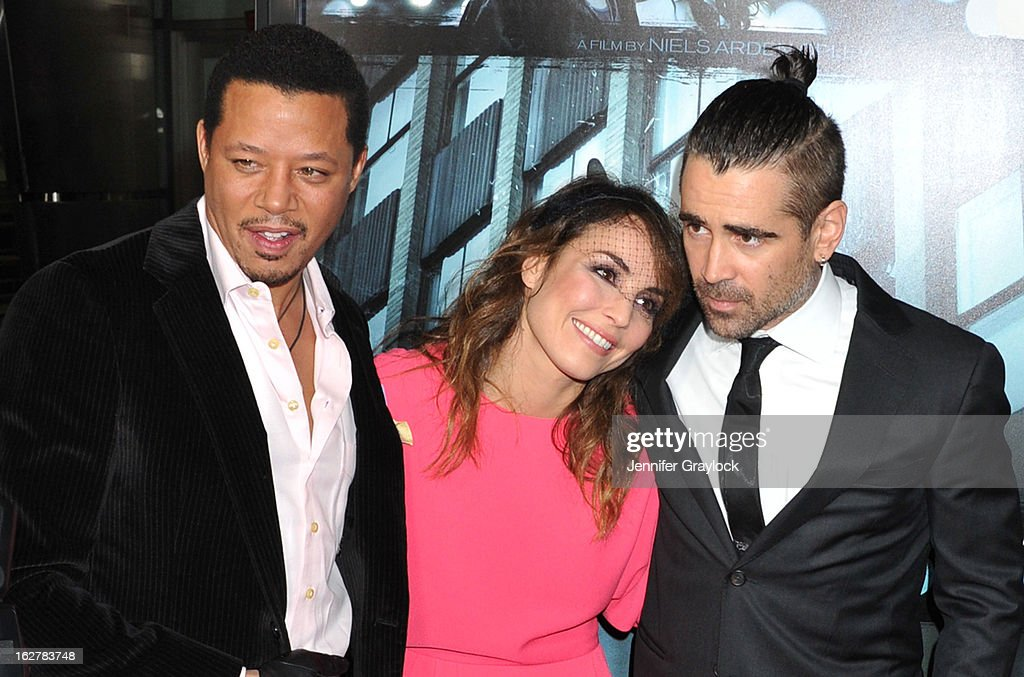Actors Terrence Howard, Noomi Rapace and Colin Farrell attend the 'Dead Man Down' Los Angeles Premiere held at the ArcLight Cinemas on February 26, 2013 in Hollywood, California.