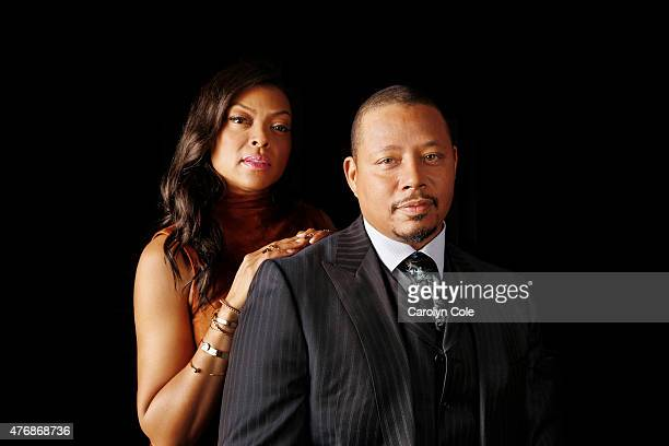 Actors Terrence Howard Taraji P Henson from Fox's hit show 'Empire' are photographed for Los Angeles Times on May 11 2015 in New York City PUBLISHED...