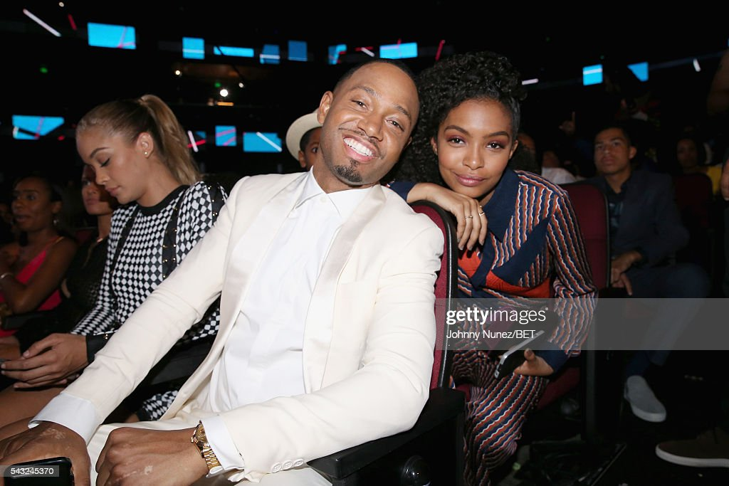 Actors <a gi-track='captionPersonalityLinkClicked' href=/galleries/search?phrase=Terrence+J&family=editorial&specificpeople=4419581 ng-click='$event.stopPropagation()'>Terrence J</a> (L) and <a gi-track='captionPersonalityLinkClicked' href=/galleries/search?phrase=Yara+Shahidi&family=editorial&specificpeople=4859417 ng-click='$event.stopPropagation()'>Yara Shahidi</a> attend the 2016 BET Awards at the Microsoft Theater on June 26, 2016 in Los Angeles, California.
