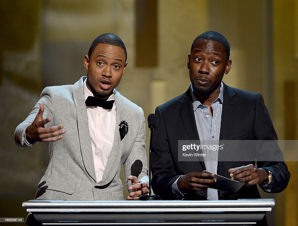 Actors Terrence Jenkins and Lamorne Morris onstage during the 44th NAACP Image Awards at The Shrine Auditorium on February 1, 2013 in Los Angeles, California.
