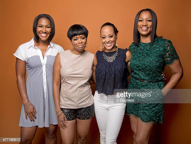 Actors Terri J Vaughn Malinda Williams Essence Atkins and Garcelle Beauvais attend the 2015 American Black Film Festival at the New York Hilton on...
