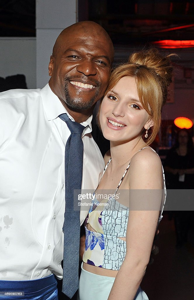 Actors <a gi-track='captionPersonalityLinkClicked' href=/galleries/search?phrase=Terry+Crews&family=editorial&specificpeople=569932 ng-click='$event.stopPropagation()'>Terry Crews</a> (L) and <a gi-track='captionPersonalityLinkClicked' href=/galleries/search?phrase=Bella+Thorne&family=editorial&specificpeople=5083663 ng-click='$event.stopPropagation()'>Bella Thorne</a> attend Cartoon Network's fourth annual Hall of Game Awards at Barker Hangar on February 15, 2014 in Santa Monica, California.