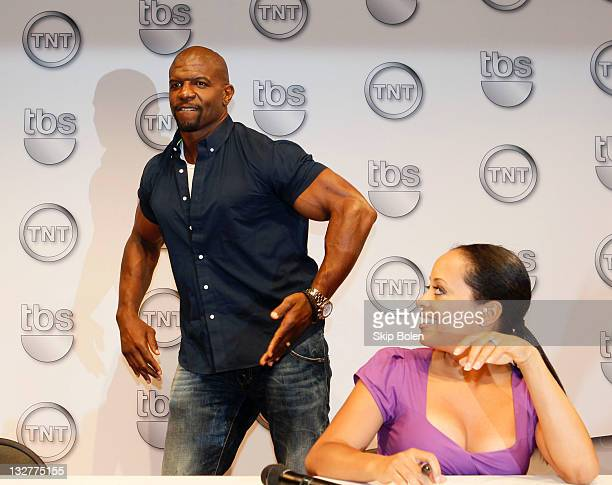 Actors Terry Crews and Essence Atkins of the TBS show 'Are We There Yet' attend the TNT 2011 Essence Festival Day 1 on July 1 2011 in New Orleans...