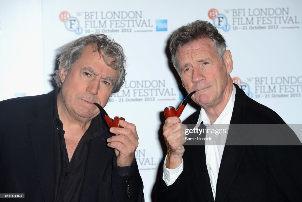 Actors Terry Jones and <a gi-track='captionPersonalityLinkClicked' href=/galleries/search?phrase=Michael+Palin&family=editorial&specificpeople=208240 ng-click='$event.stopPropagation()'>Michael Palin</a> attend 'A Liar's Autobiography' photocall during the 56th BFI London Film Festival at the Empire Leicester Square on October 16, 2012 in London, England.