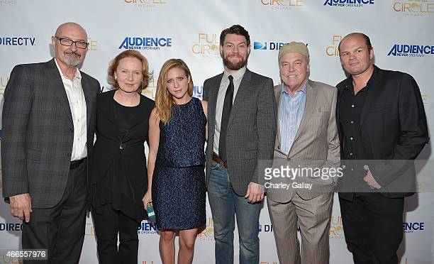 Actors Terry O'Quinn Kate Burton Brittany Snow Patrick Fugit Stacy Keach and Chris Bauer celebrate the second season premiere of 'Full Circle' at The...