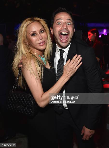 Actors Tess Broussard and Nick Kroll attend Comedy Central's Creative Arts Emmy after party at Boulevard3 on August 16 2014 in Hollywood California