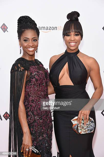 Actors Teyonah Parris and Michelle Mitchenor attend the 'CHIRAQ' New York premiere at Ziegfeld Theatre on December 1 2015 in New York City