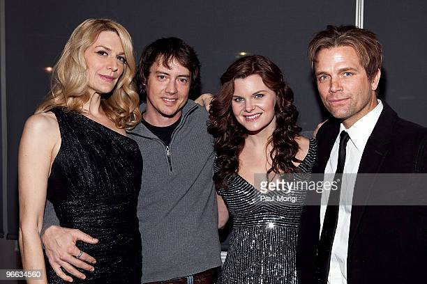 Actors Thea Gill Jason London Heather Tom and David Chokachi attend a screening of 'The Putt Putt Syndrome' at Tribeca Cinemas on February 12 2010 in...