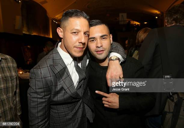 Actors Theo Rossi and Gabriel Chavarria attend the premiere of BH Tilt's 'Lowriders' after party on May 9 2017 in Los Angeles California
