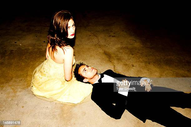 Actors Thomas Dekker and Phoebe Tonkin are photographed for Self Assignment on May 4 2012 in Los Angeles California