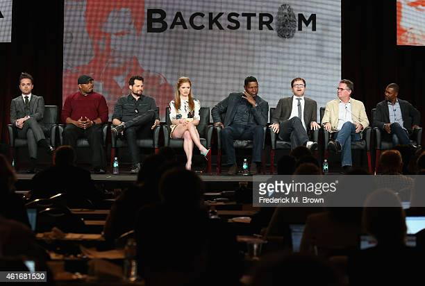 Actors Thomas Dekker Page Kennedy Kristoffer Polaha Genevieve Angelson Dennis Haysbert actor/producer Rainn Wilson creator/executive producer Hart...