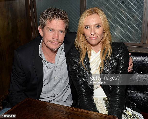 Actors Thomas Haden Church and Toni Collette attend the 'Lucky Them' Premiere after party during the 2014 Tribeca Film Festival at Sweetwater Social...
