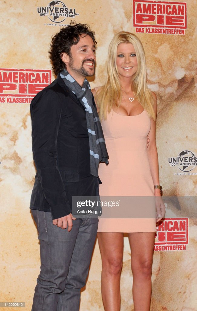 Actors Thomas Ian Nicholas and Tara Reid attend the 'American Reunion' Germany Photocall at the Ritz Carlton Hotel on March 29 2012 in Berlin Germany