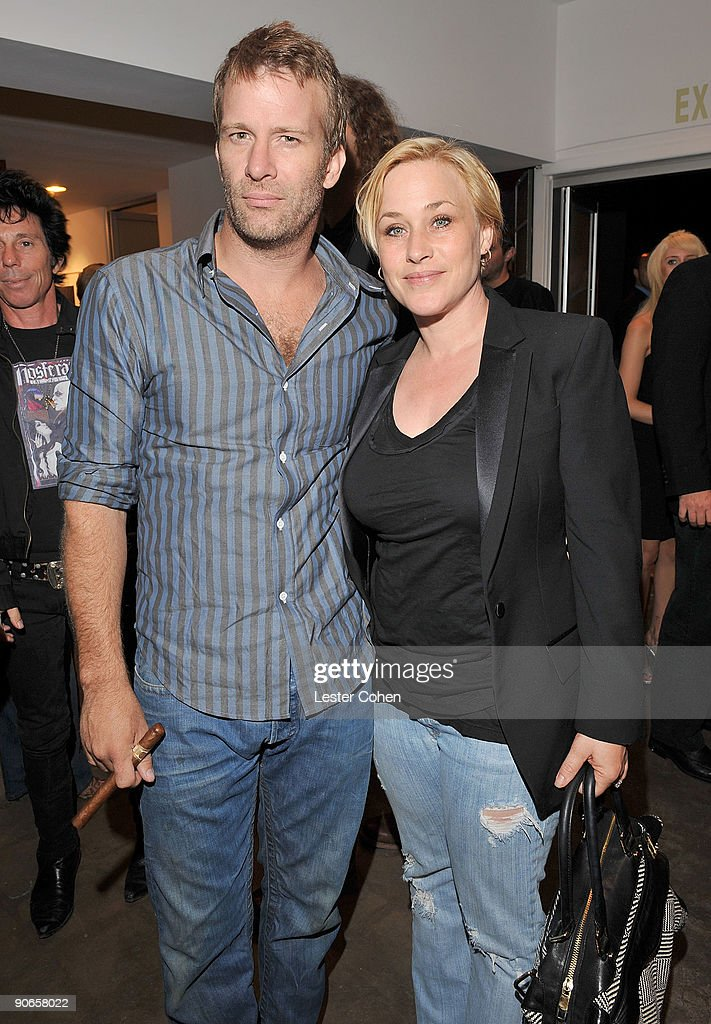 Actors Thomas Jane and <a gi-track='captionPersonalityLinkClicked' href=/galleries/search?phrase=Patricia+Arquette&family=editorial&specificpeople=206197 ng-click='$event.stopPropagation()'>Patricia Arquette</a> attend the David Lynch: New Paintings Exhibit Event at Griffin LA on September 12, 2009 in Santa Monica, California.