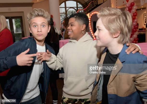 Actors Thomas Kuc Benjamin Flores Jr and Casey Simpson attend Nickelodeon's Not So Valentine's Special on February 6 2017 in Los Angeles California