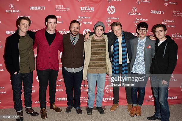Actors Thomas Mann James Frecheville writer/director Kyle Patrick Alvarez actors Jesse Carere Brett Davern Matt Bennett and Callan McAuliffe attend...