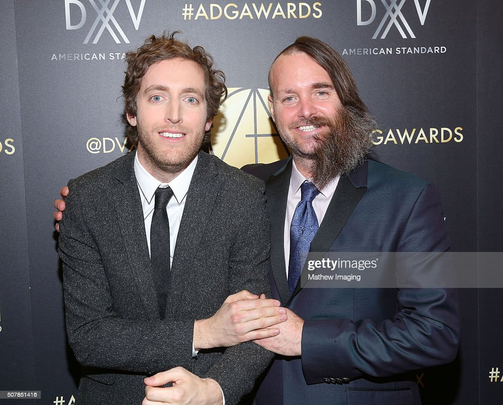 Actors Thomas Middleditch and Will Forte attend the 20th Annual Art Directors Guild Excellence In Production Design Awards at The Beverly Hilton...