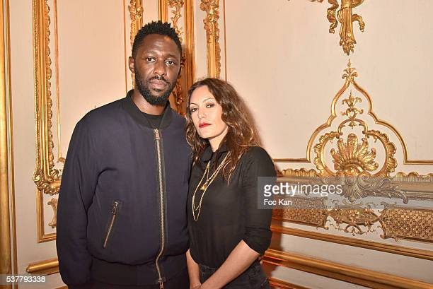 Actors Thomas Ngijol and Karole Rocher attend 'Autistes Sans Frontieres' Gala Dinner Arrivals at Hotel Marcel Dassault on June 2 2016 in Paris France