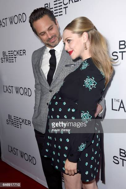 Actors Thomas Sadoski and Amanda Seyfried at the premiere of Bleecker Street Media's 'The Last Word' at ArcLight Hollywood on March 1 2017 in...