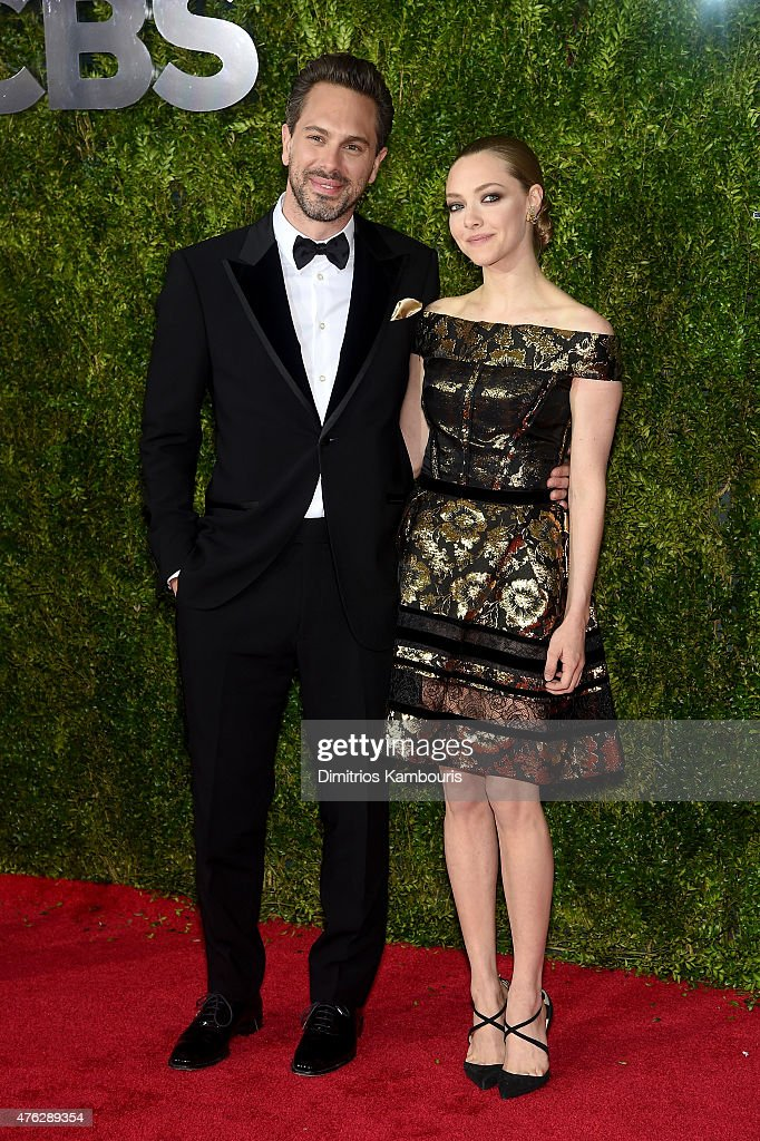 Actors Thomas Sadoski and Amanda Seyfried attend the 2015 Tony Awards at Radio City Music Hall on June 7 2015 in New York City