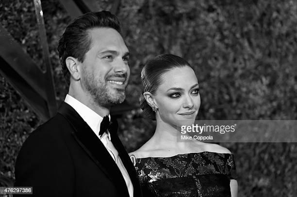 Actors Thomas Sadoski and Amanda Seyfried attend the 2015 Tony Awards at Radio City Music Hall on June 7 2015 in New York City