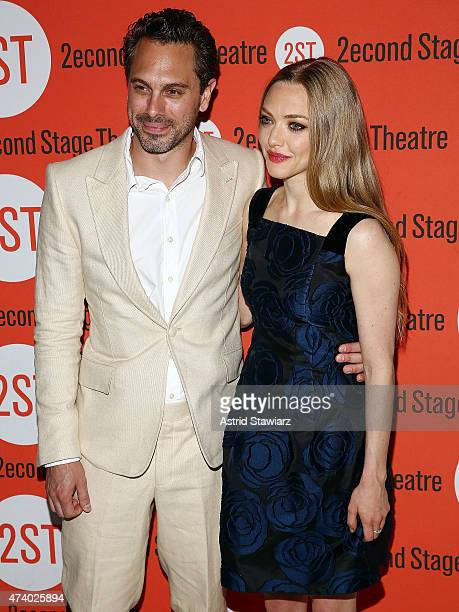 Actors Thomas Sadoski and Amanda Seyfried attend 'The Way We Get By' opening night after party at Four at Yotel on May 19 2015 in New York City