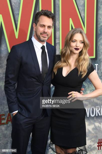 Actors Thomas Sadoski and Amanda Seyfried attend the world premiere of the Showtime limitedevent series 'Twin Peaks' May 19 2017 at the Ace Hotel in...