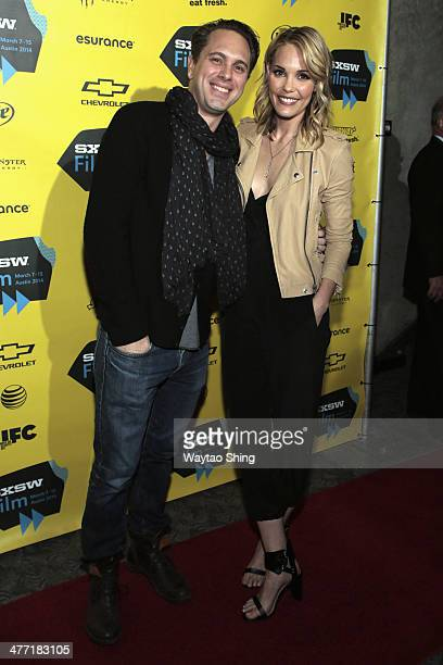 Actors Thomas Sadoski and Leslie Bibb attend the 'Take Care' premiere during the 2014 SXSW Music Film Interactive Festival at Stateside Theater on...