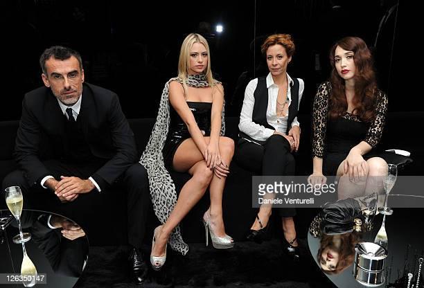 Actors Thomas Trabacchi Martina Stella Carlotta Natoli and Chiara Francini pose in the VIP room at the Dolce Gabbana Spring/Summer 2012 fashion show...