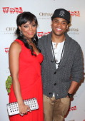 Actors Tiffany Hines and Tristan Wilds attend the 'Under The Mistletoe' charity event benefiting the Toys For Tots Foundation at the Lexington Social...