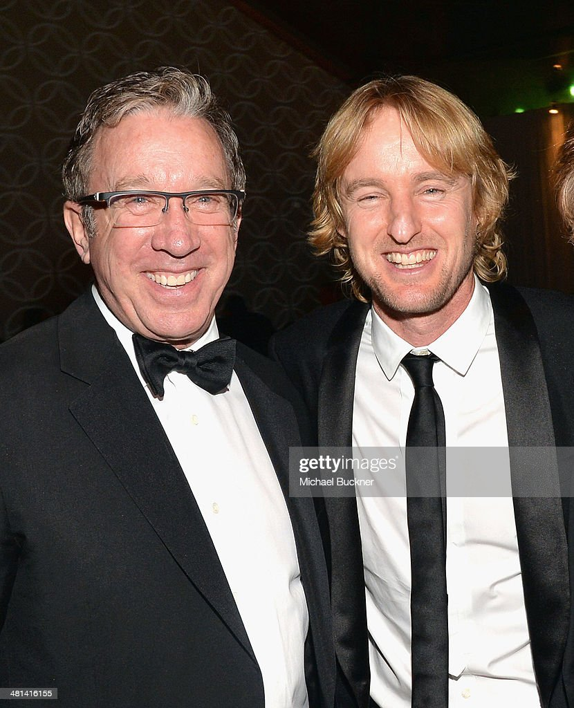 Actors <a gi-track='captionPersonalityLinkClicked' href=/galleries/search?phrase=Tim+Allen&family=editorial&specificpeople=206248 ng-click='$event.stopPropagation()'>Tim Allen</a> and <a gi-track='captionPersonalityLinkClicked' href=/galleries/search?phrase=Owen+Wilson&family=editorial&specificpeople=202027 ng-click='$event.stopPropagation()'>Owen Wilson</a> attend MOCA's 35th Anniversary Gala presented by Louis Vuitton at The Geffen Contemporary at MOCA on March 29, 2014 in Los Angeles, California.