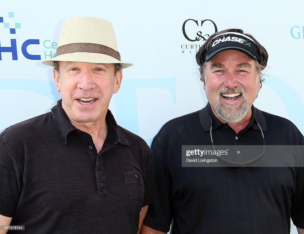 Actors <a gi-track='captionPersonalityLinkClicked' href=/galleries/search?phrase=Tim+Allen&family=editorial&specificpeople=206248 ng-click='$event.stopPropagation()'>Tim Allen</a> (L) and <a gi-track='captionPersonalityLinkClicked' href=/galleries/search?phrase=Richard+Karn&family=editorial&specificpeople=226733 ng-click='$event.stopPropagation()'>Richard Karn</a> attend the Ninth Annual George Lopez Celebrity Golf Classic at Lakeside Golf Club on May 2, 2016 in Burbank, California.