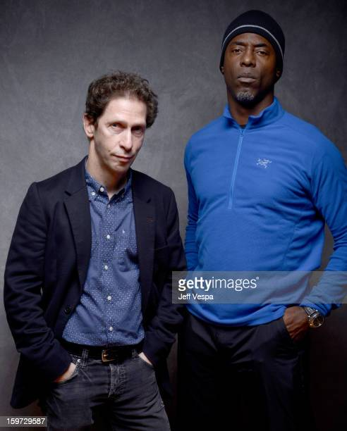 Actors Tim Blake Nelson and Isaiah Washington pose for a portrait during the 2013 Sundance Film Festival at the WireImage Portrait Studio at Village...