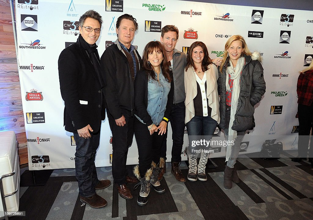 Actors <a gi-track='captionPersonalityLinkClicked' href=/galleries/search?phrase=Tim+Daly&family=editorial&specificpeople=206405 ng-click='$event.stopPropagation()'>Tim Daly</a> and <a gi-track='captionPersonalityLinkClicked' href=/galleries/search?phrase=Bill+Pullman&family=editorial&specificpeople=226899 ng-click='$event.stopPropagation()'>Bill Pullman</a>, producer <a gi-track='captionPersonalityLinkClicked' href=/galleries/search?phrase=Robin+Bronk&family=editorial&specificpeople=653341 ng-click='$event.stopPropagation()'>Robin Bronk</a>, Charley Walters, Jana Davidoff-Morrison of CW3 PR and actress <a gi-track='captionPersonalityLinkClicked' href=/galleries/search?phrase=Joey+Lauren+Adams&family=editorial&specificpeople=621841 ng-click='$event.stopPropagation()'>Joey Lauren Adams</a> attend the Sundance Film Festival: Creative Coalition Luncheon at The Sky Lodge during the 2013 Sundance Film Festival on January 19, 2013 in Park City, Utah.