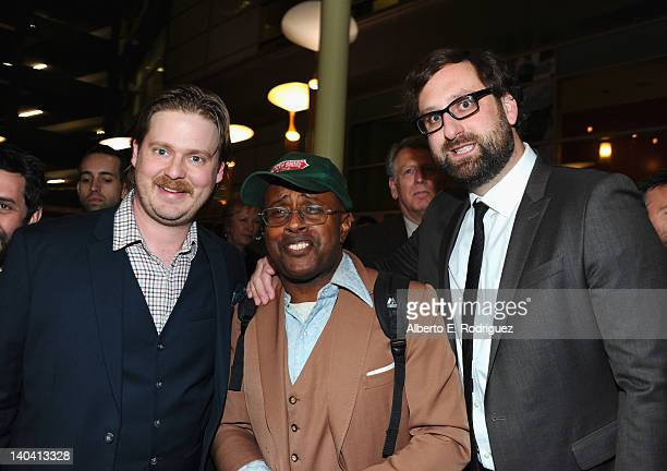Actors Tim Heidecker David Hart and Eric Wareheim arrive to 'Tim And Eric'$ Billion Dollar Movie' Los Angeles Premiere at ArcLight Hollywood on March...