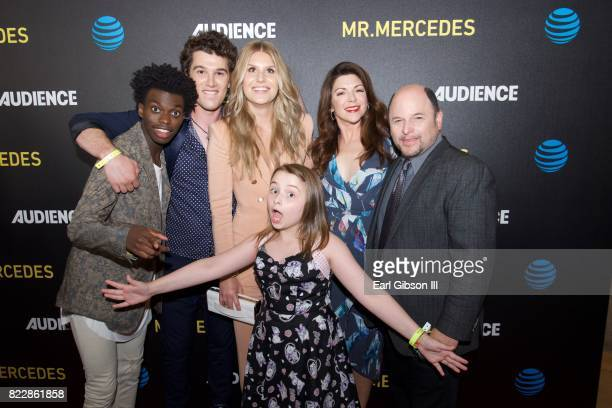 Actors Tim Johnson Jr Nick Marini Natalie Sharp Maddie DixonPoirier Amy Pietz and Jason Alexander attend the screening of ATT Audience Network's 'Mr...